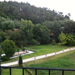 Vista del jardín desde la habitación