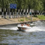 Jet boat ride on canal in zoo - 2014