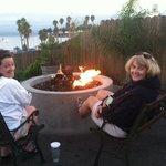 Enjoying the fire pit.
