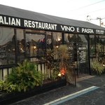 Vino E Pasta is located near a Publix shopping center, so there's plenty of parking.
