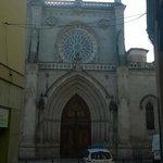 Rosetón y pórtico oeste de la Catedral de Santiago de Bilbao.
