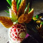 Food art at the weekly beach party - irie
