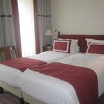 Room with two twin beds