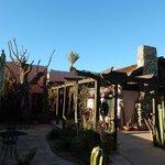 Walkway us to BeDillon's in the cactus garden.
