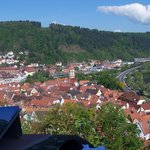 View from Wertheim Castle overlooking hotel