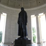 The centerpiece of the Memorial is a standing statue of Thomas Jefferson