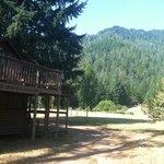 One of several cozy cabins overlooking deer laden grounds