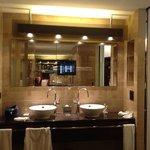 pantalla en el baño