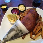 Haddock and chips - Waterfront Warehouse