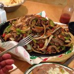 Fajitas for two..... Would easily feed four.