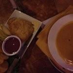 Brie Appetizer and Bowel of Lobster Bisque