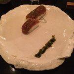 Yellowfin tuna(delightful) , mitsuba, he she ho raw soy and the most amazing freshly grated (DIY