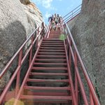 yikes!  steps up to the tower