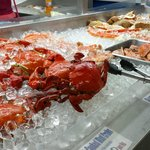 Large assortment of seafood to choose from