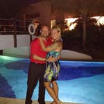 My beautiful wife and I at the resort