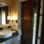 Bathroom with balcony