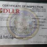expired inspection of elevator (taken 8/27/14)