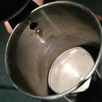 Pava electrica (tenia agua sucia)