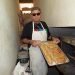 Umberto with his freshly baked bread