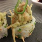 Fusion of Mexican and Japanese to create guacamole sushi