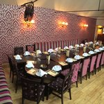 Private dinning setted up for a group of 24!