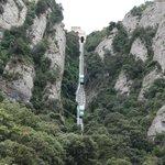 Funnicular ride at Montserrat Mountain