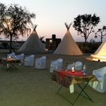 Tipi Tents in Lodge