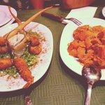 Shrimps and potatoes