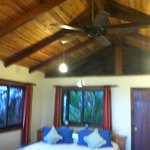 Rooms came with ceiling fans.