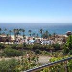 View of the beach club