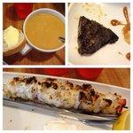 Zuppa di pesce, assaggio di balena e uno spiedone di merluzzo.