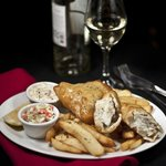Fish & Chips with house made coleslaw and tartare sauce