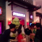 Dreamworks characters on parade at the Shoppes at Cotai