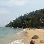 La plage devant Panuba inn resort