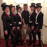 Dean Caston with The Tiller Girls