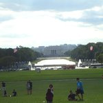 From the Washington Monument.