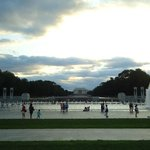 From the center of the World War II memorial.