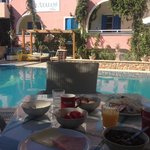 breakfast round the pool