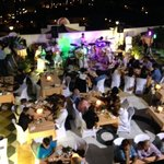outdoor terrace + live performance