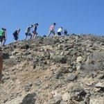 Volcano walk with Gary