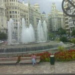 A beautiful fountain at the plaza