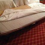 terzo letto con materassino simile a quelli usati in piscina