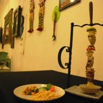 Jumbo Skewer - Served with Ratatouile, choice of potatoes or rice, and choice of sauce