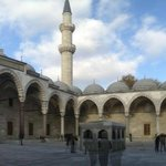 nice and quiet square in Suleymaniye Mosque