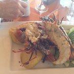 langosta a la plancha con ensalada