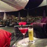 Noche en la terraza.-