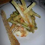 tempura di verdure con salsa piccante
