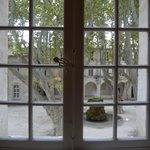 View from room into the courtyard
