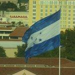 Honduran flag over Presidental Palace