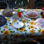 La colazione sul terrazzino